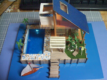 1:144 Scale Modern Beach House
