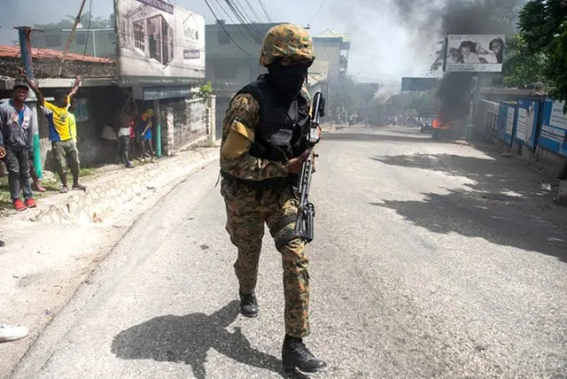Security forces have been beefed up in the Haitian capital. Photo: EPA.