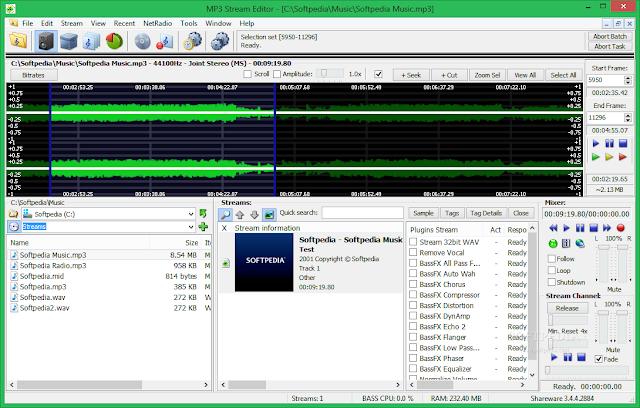تحميل برنامج قص الاغانى mp3 عربى للكمبيوتر MP3 Stream Editor 3.4