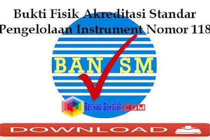 Bukti Fisik Akreditasi Standar Pengelolaan Instrument Nomor 118 dengan Penjelasannya