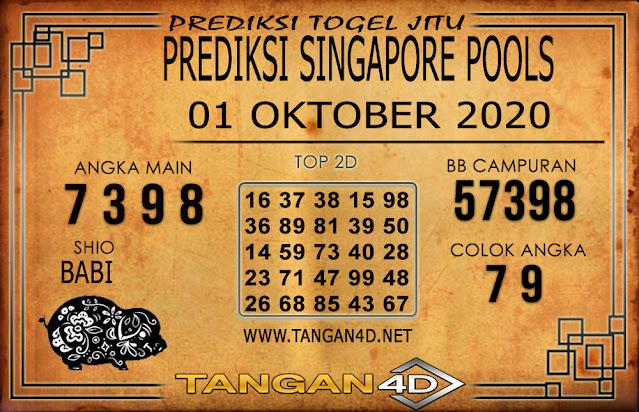 PREDIKSI TOGEL SINGAPORE TANGAN4D 01 OKTOBER 2020