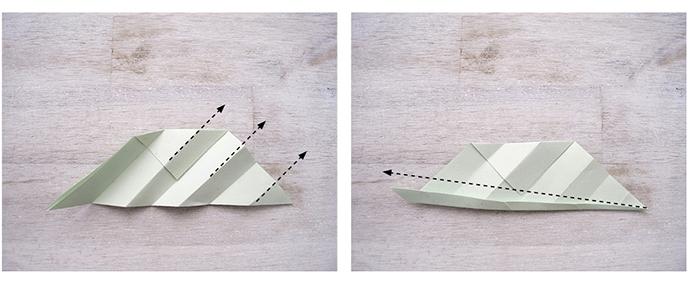 Beschreibung Origamiblätter falten