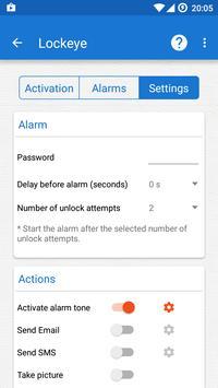 Lockeye : Wrong password alarm & Anti-Theft Mod v1.1.1