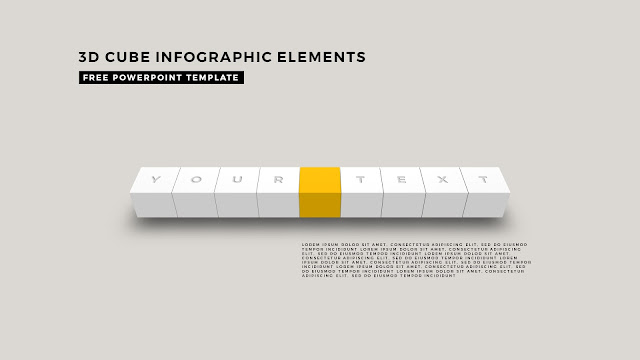 3D Cube Infographic Elements for Free PowerPoint Template Design Slide 4