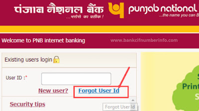 Click on Forgot User Id link