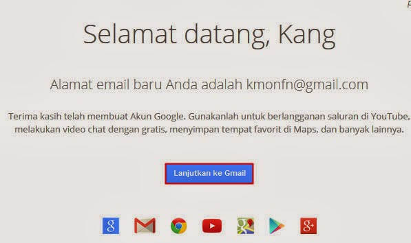 Lanjutkan Gmail