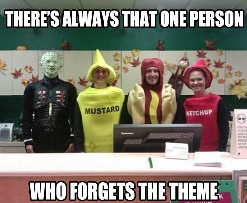 Funny Costume Party Theme Fail Joke Picture