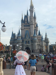 Mary Poppins with Cinderella Castle in the Background