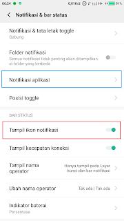 cara memunculkan notifikasi di xiaomi