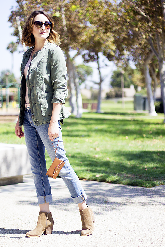 Banana Republic Wrap Military Jacket and Straight Jeans