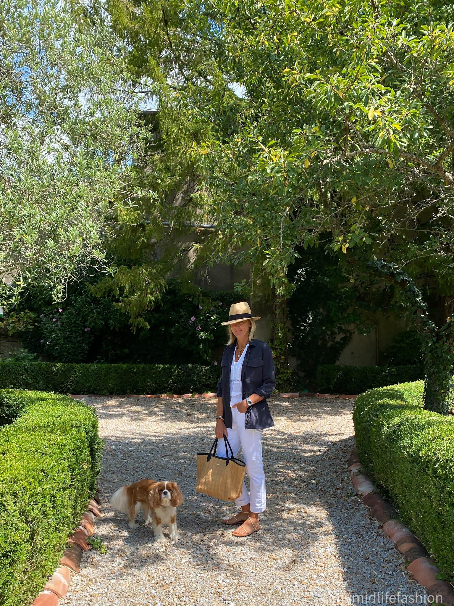 my midlife fashion, Baukjen Alwen Organic Jacket, Baukjen boyfriend jean, Isabel marant etoile blouse, Longchamps le pilage tote, h and m Panama hat, speak out plaited leather sandals