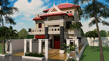 3 Story House Plan 9.5x14.5m With 6 Bedrooms - Ma