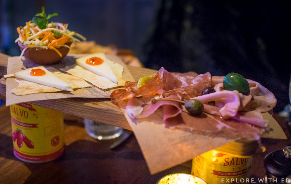 The Famous Plank, Jamie's Italian, Cured Meats