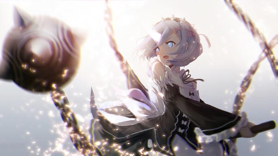 Rem, Morning Star, Re:Zero, Anime, Girl, Maid, 4K, #4.2736