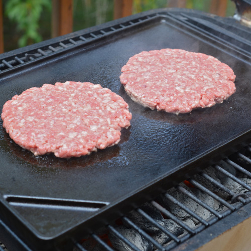Smash burgers on the pk grill with kingsford charcoal
