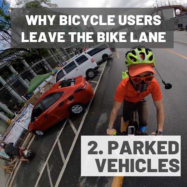 Vehicles using bike lanes as parking area