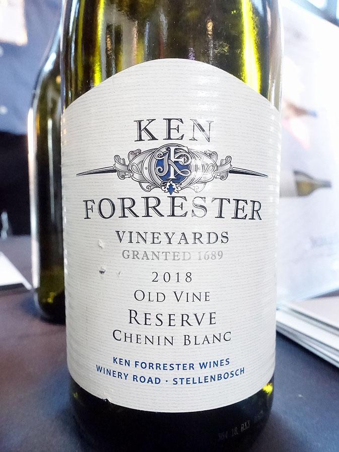 Ken Forrester Old Vine Reserve Chenin Blanc 2018 (90 pts)