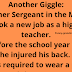 A former Sergeant in the Marine Corps took a new job as a high school teacher.