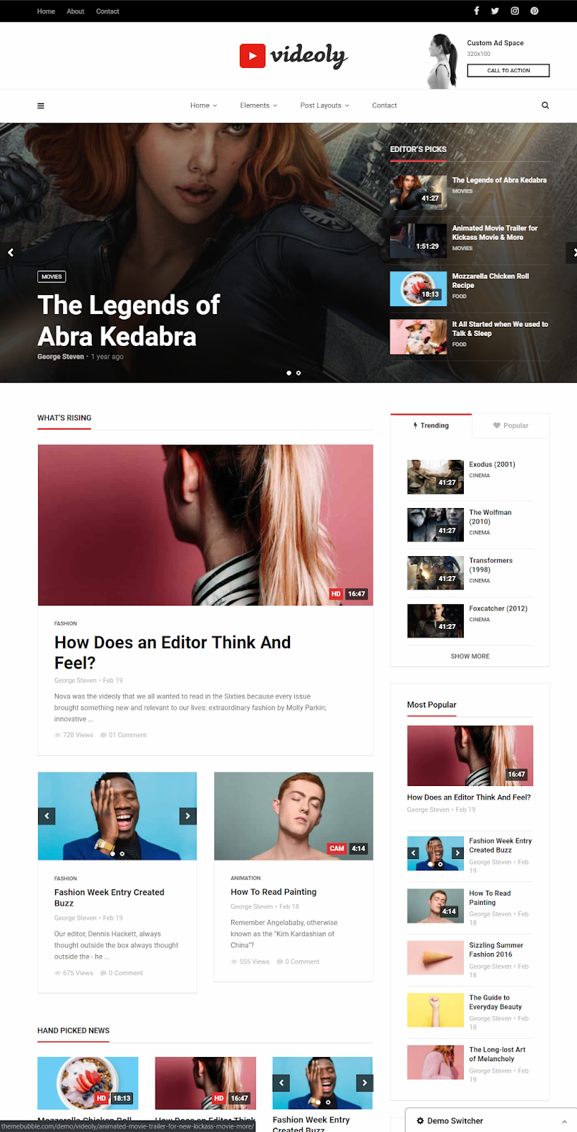 Videoly - Best WordPress Theme For Video Blogging | Free Video