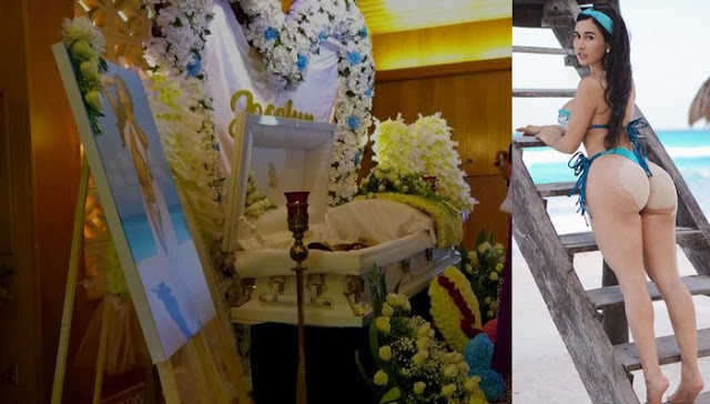 Muere Yocelyn Cano, la llamada Kim Kardashian mexicana, tras operarse los duraznos y su funeral esta en Youtbe