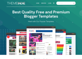SEO Responsive Fast Loading Blogger Templates [themeindie]