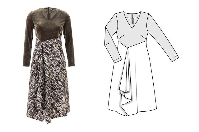 burda styl kasım 2017 elbise