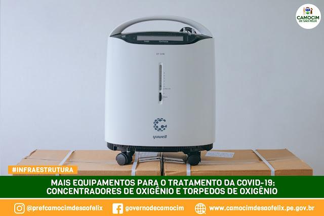 Prefeitura de Camocim adquire concentradores de oxigênio e cilindros