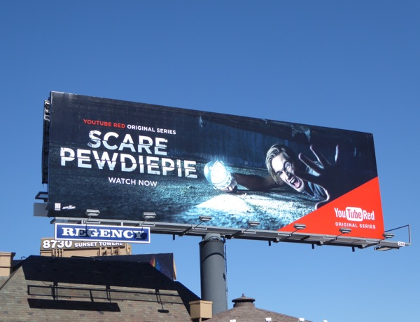 Scare PewDiePie YouTube Red series billboard