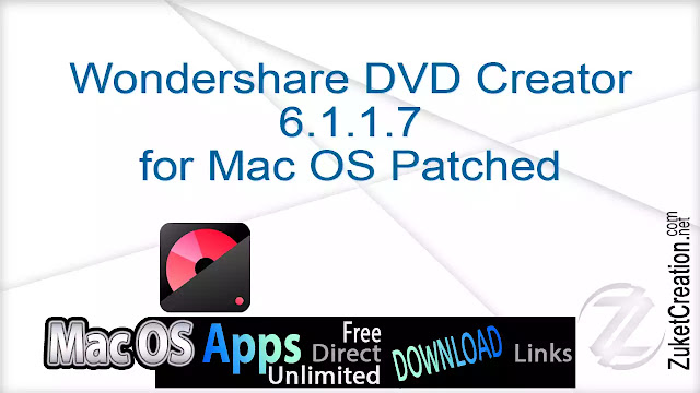 Wondershare DVD Creator 6.1.1.7 for Mac OS Patched