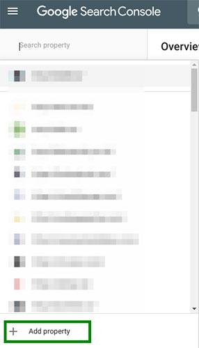 Cách thêm trang web vào Google Search Console