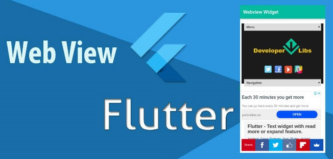 Flutter - Web view widget and progress bar  ~ Developer Libs