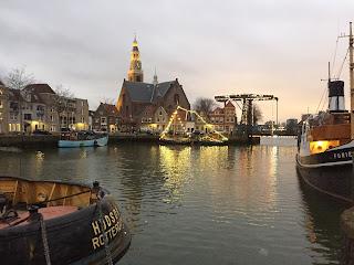 maassluis verlicht mooie stad haven centrum