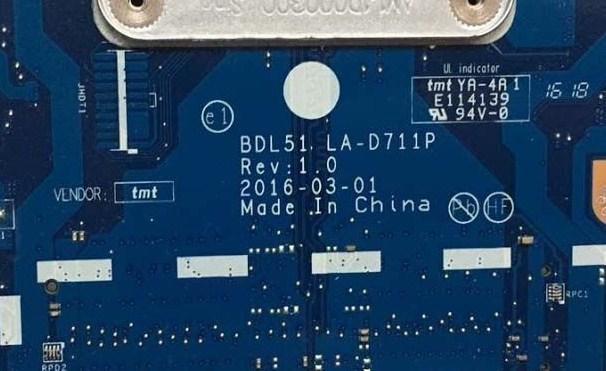 LA-D711P REV 1.0 BDL51 HP 15-ba055ur Bios