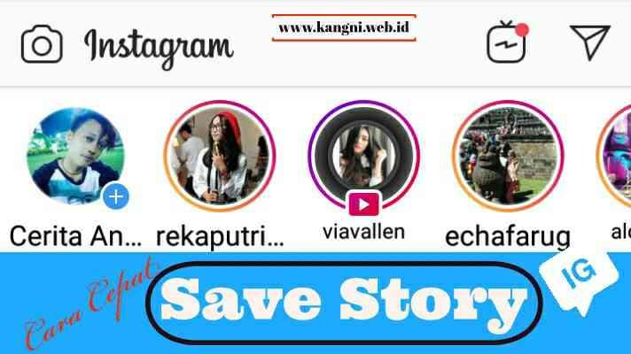 Cara Cepat Menyimpan Story Ig (instagram)
