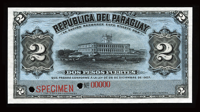 World Paper Money Currency Paraguay peso banknote bill