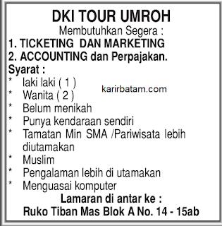 Lowongan Kerja DKI Tour Umroh Tiban