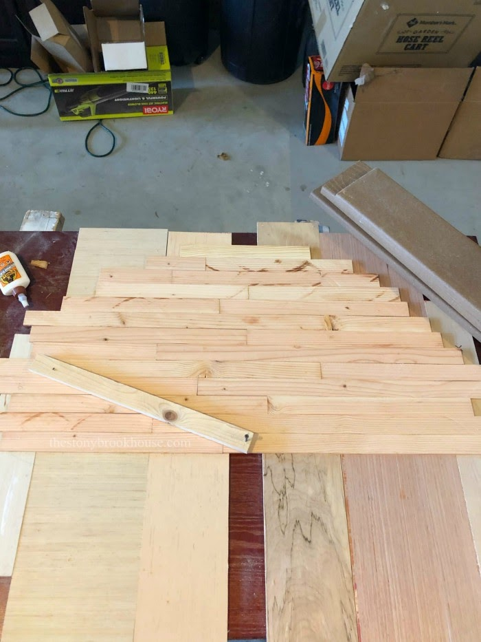 Laying out skinny shiplap for clock