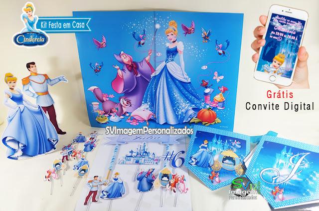 kit festa Cinderela Princesas dicas e ideias para decoração de festa personalizados