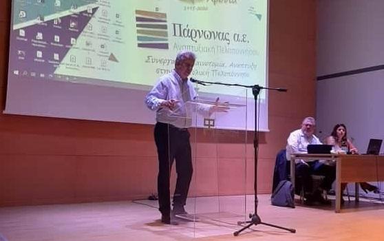 """Ο Δήμαρχος Ερμιονίδας στην εκδηλωση για τα 25 χρόνια της """"Πάρνωνας Α.Ε."""""""