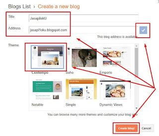 Membuat nama dan domain blog