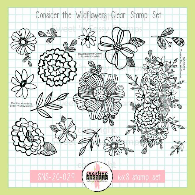Consider the Wildflowers Clear Stamp Set