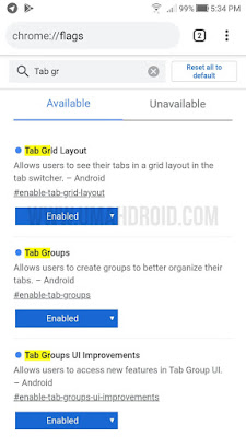 Cara Enable Group Tab Chrome HP