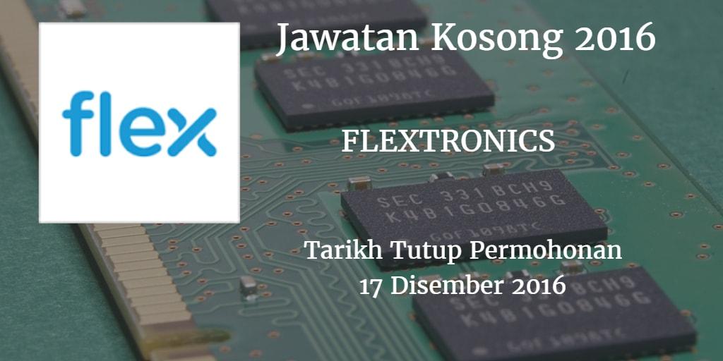 Jawatan Kosong FLEXTRONICS 17 Disember 2016