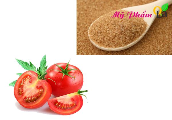 Cách làm sạch da mặt cà chua và đường