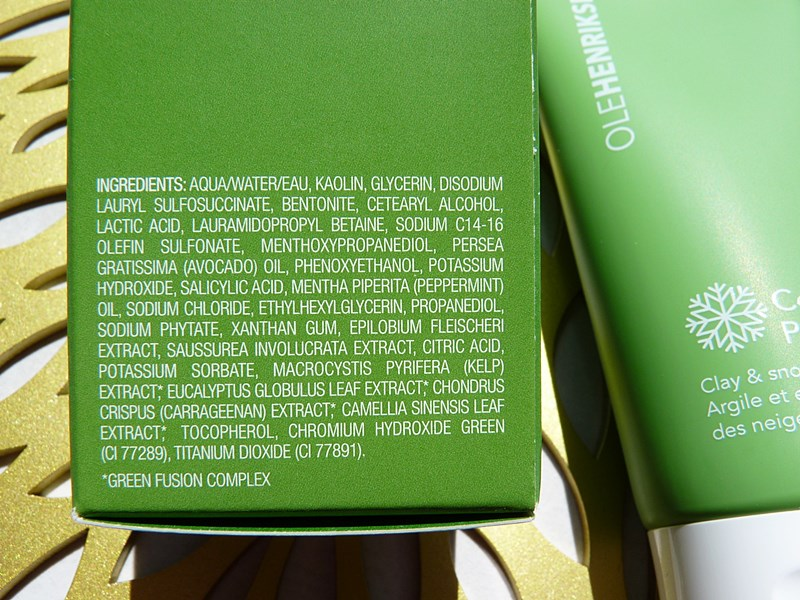 Ole Henriksen Cold Plunge Pore Mask inci ingredients skład składniki