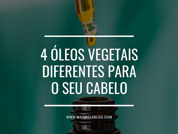 4 Óleos vegetais diferentes para o seu cabelo