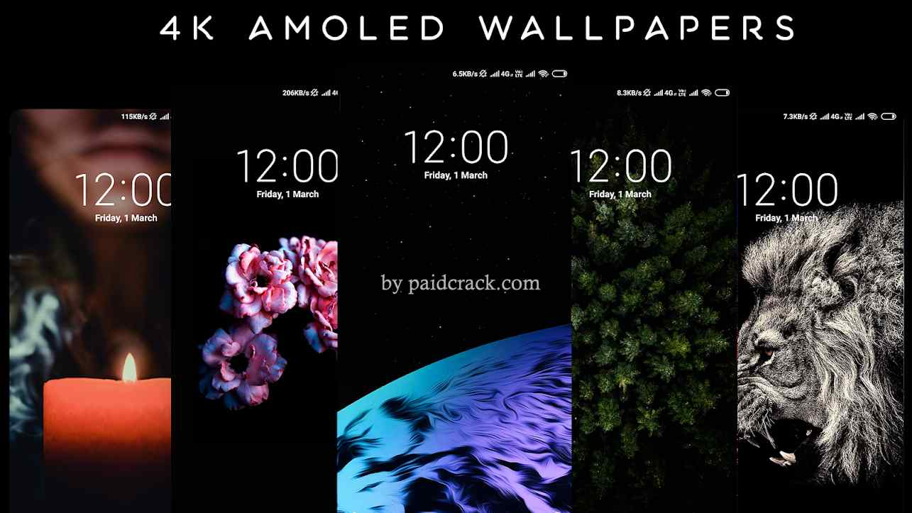 4K AMOLED Wallpapers - Live Wallpapers Changer Pro Mod Apk 1.8.7