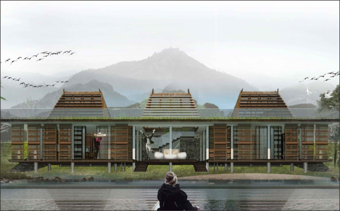 desain atap pondok wisata