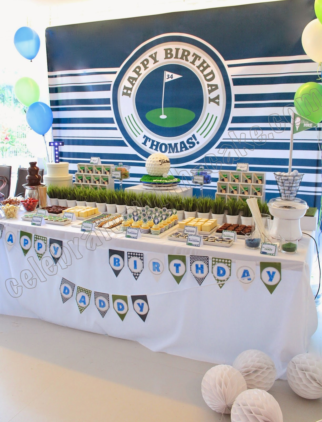 Stupendous Golf Themed Dessert Table Click Post To View More Pictures Home Interior And Landscaping Pimpapssignezvosmurscom