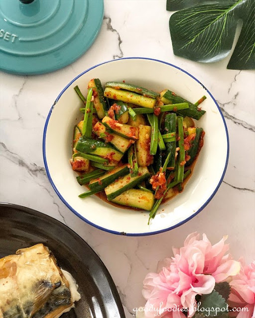Cucumber Chive Kimchi (Oi Kimchi 오이김치)